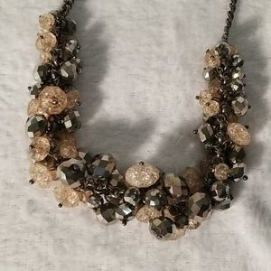 Black and light pink necklace